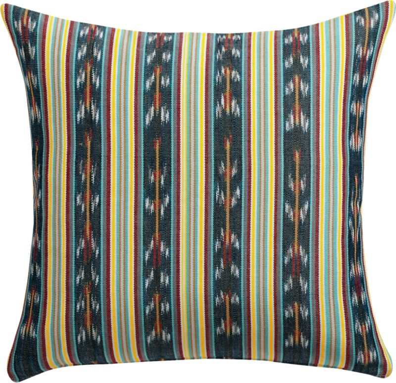 "tulate stripe 18"" pillow with down-alternative insert"