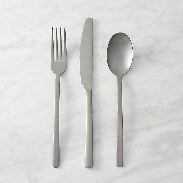 12-piece tumble silver flatware set