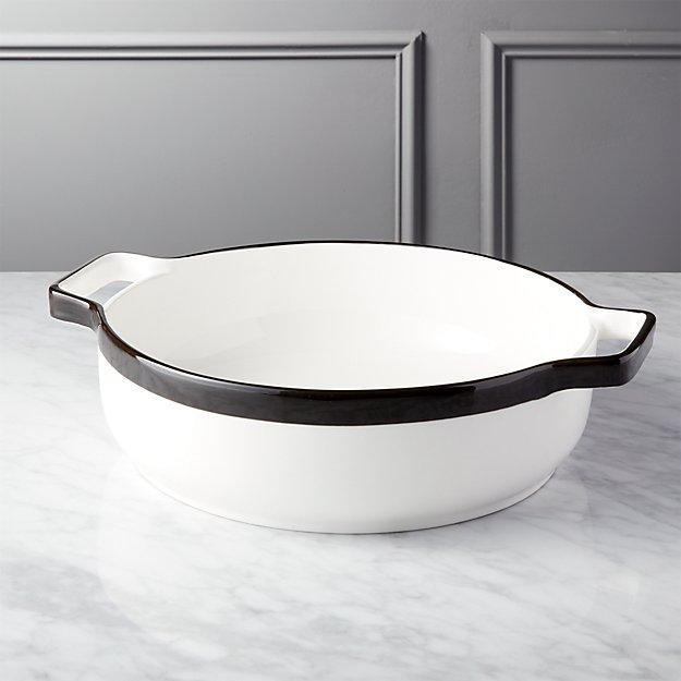 Tux Large White Baking Dish