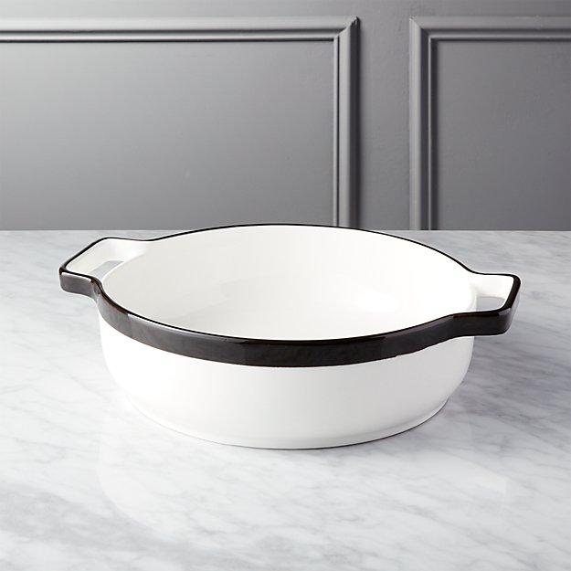 Tux Small White Baking Dish