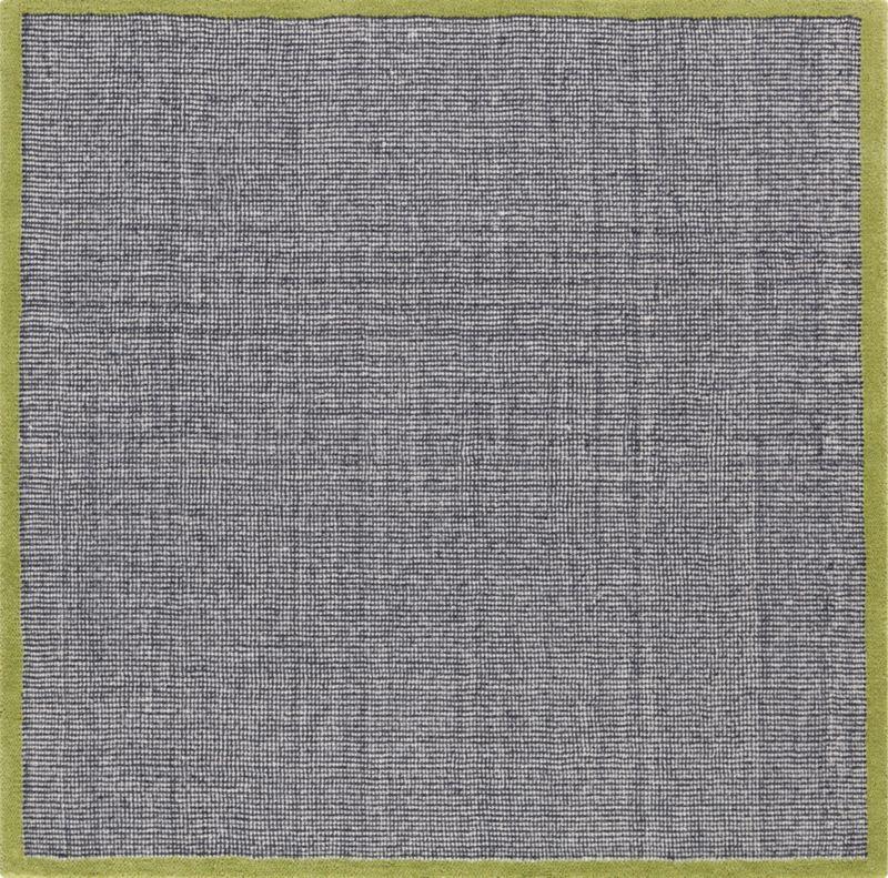 tweed grey/ivory/camo rug 6' sq.