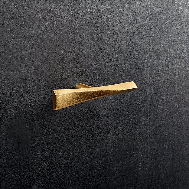 twig brass knob