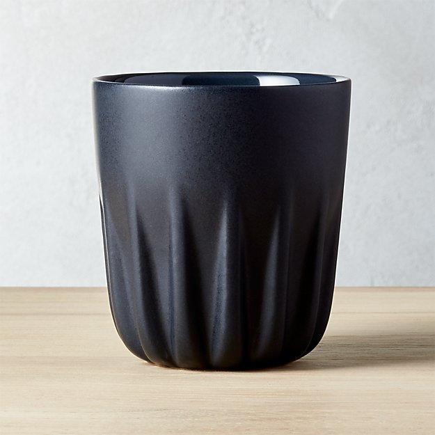 Twist Matte Black Tea Cup