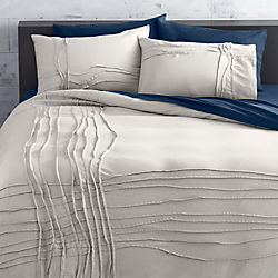 twisted silver grey bed linens