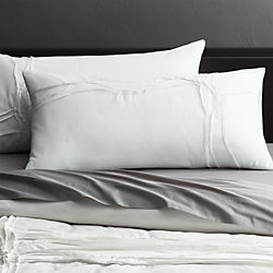 twisted white king shams set of two