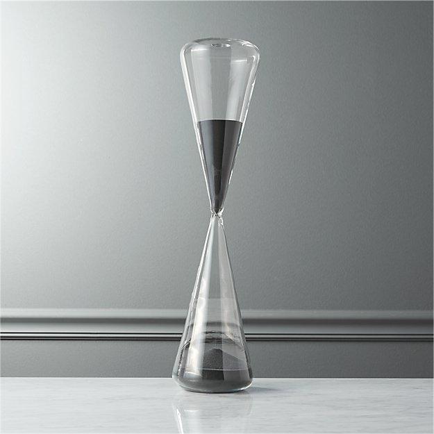 2-hour grey hour glass
