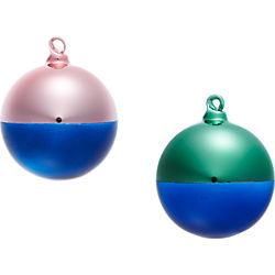 two-tone ornaments