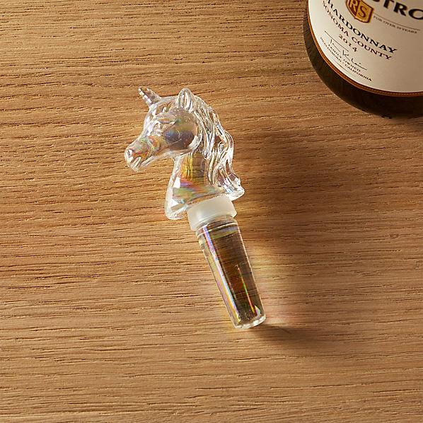 UnicornIridescBottleStopperSHS17