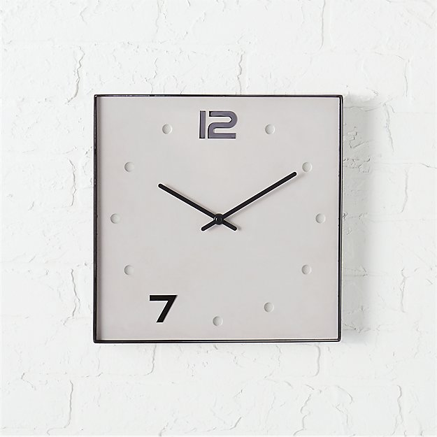 union cement and black nickel square clock