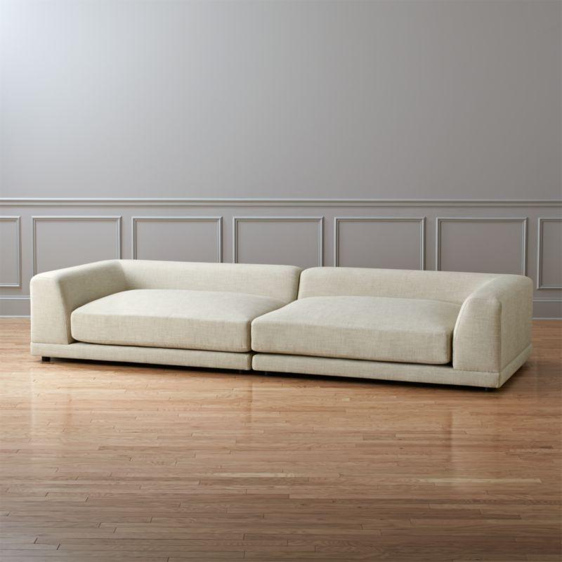 uno 2 piece sectional sofa Notion Cream Puff