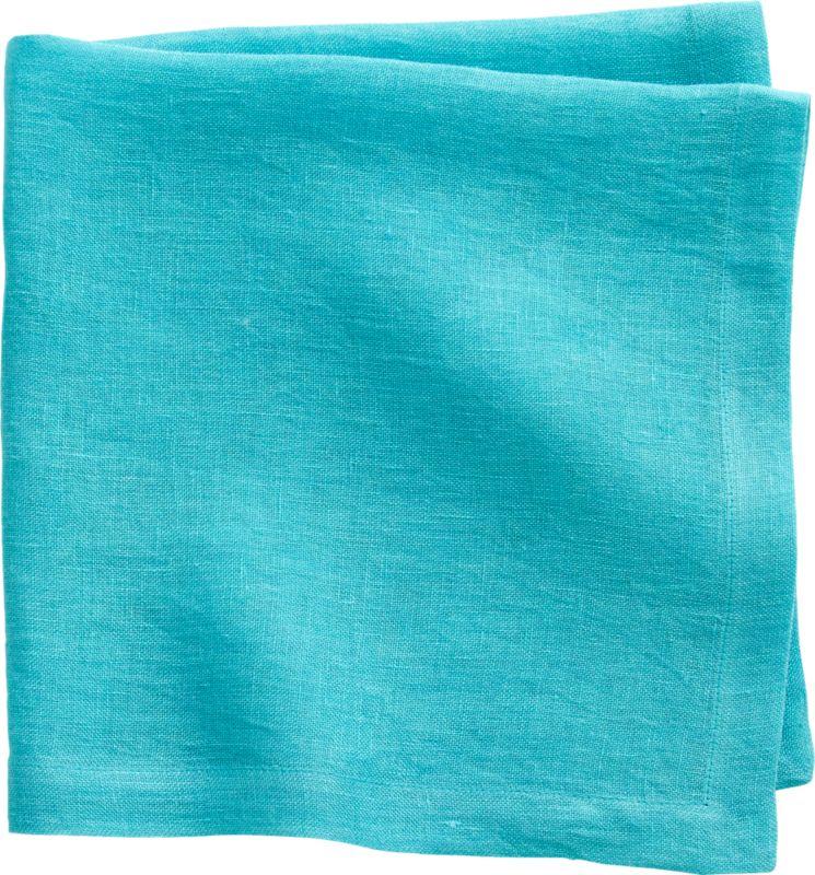 uno aqua linen napkin