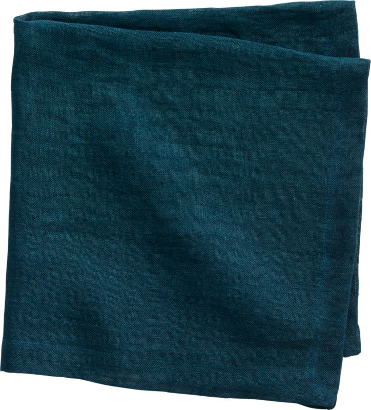 uno blue-green linen napkin