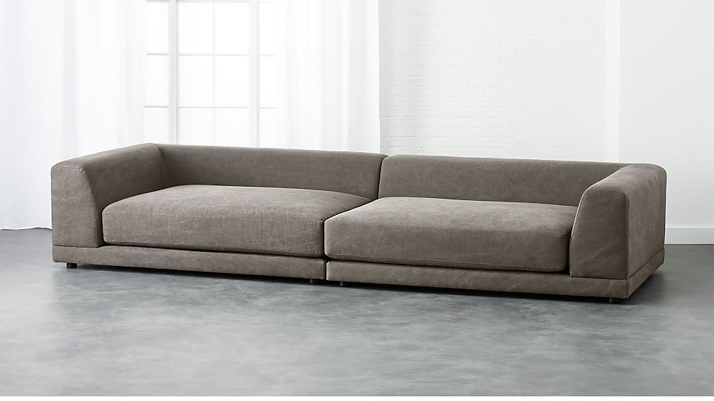 Uno 2 Piece Pewter Sectional Sofa In Sectionals Reviews