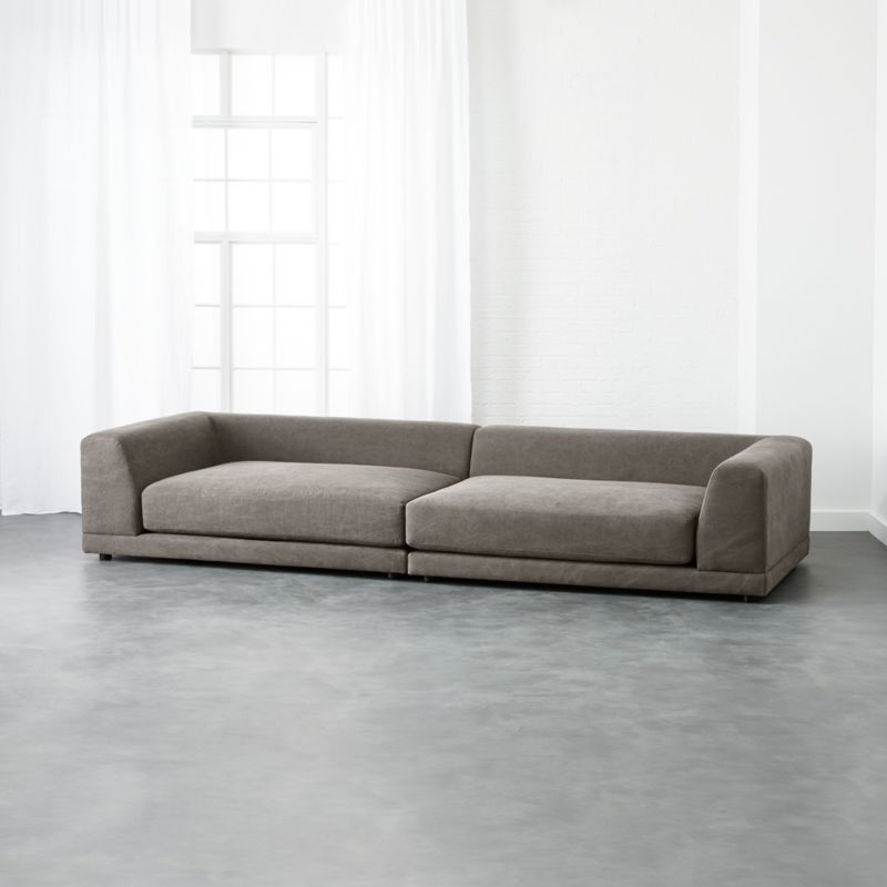 uno 2 piece sectional sofa Angel Pewter