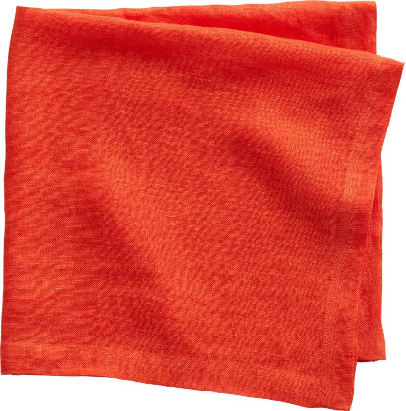 uno orange linen napkin