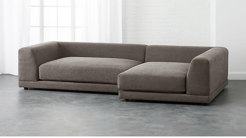 Uno 2 Piece Deep Sectional Sofa Reviews Cb2