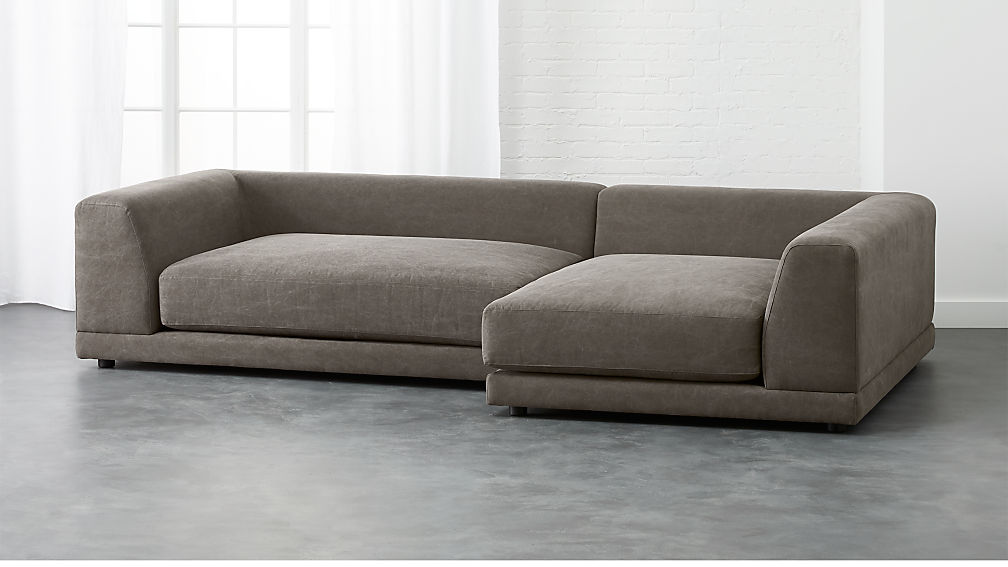 deep sectional sofa uno 2 sectional sofa cb2 30958