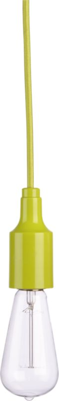 utility chartreuse pendant lamp