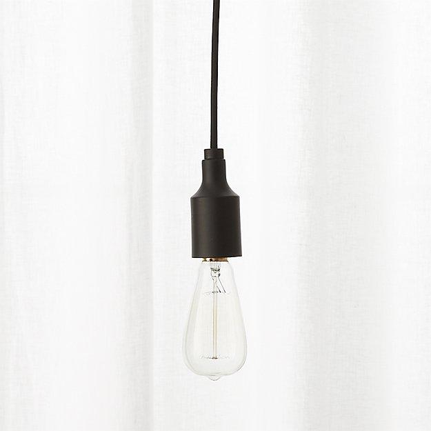 utility matte black single pendant light - Utility Matte Black Single Pendant Light CB2