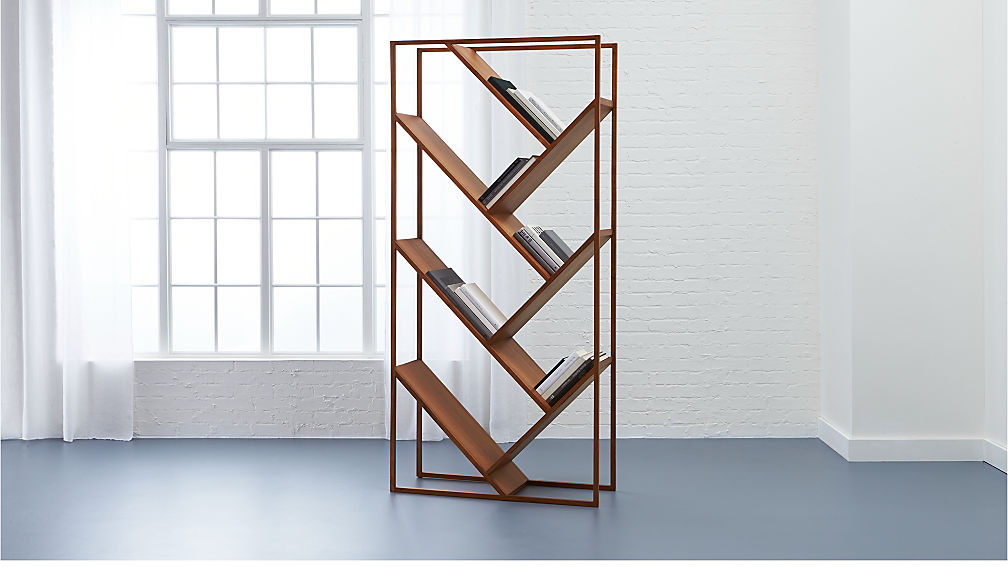 V Bookcase Room Divider Cb2