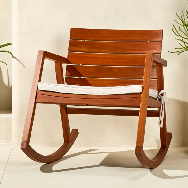 Valalta Mahogany Rocking Chair With Cushion | CB2