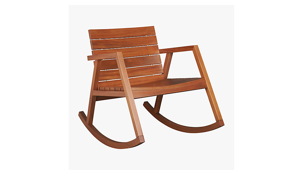 Valalta Outdoor Wooden Rocking Chair Reviews Cb2