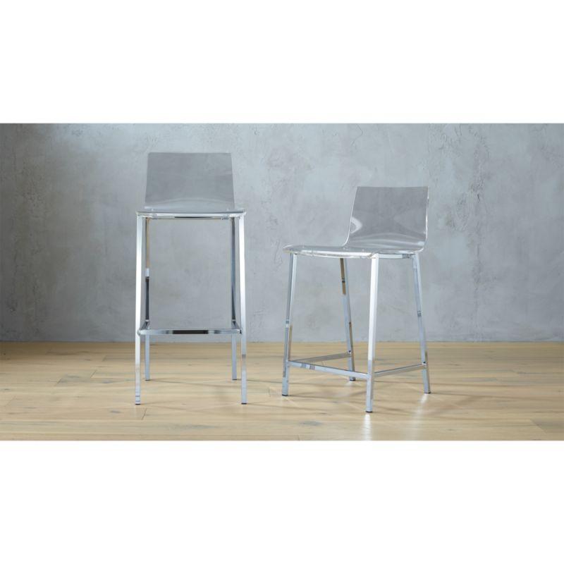 sc 1 st  CB2.com & vapor acrylic bar stools | CB2 islam-shia.org