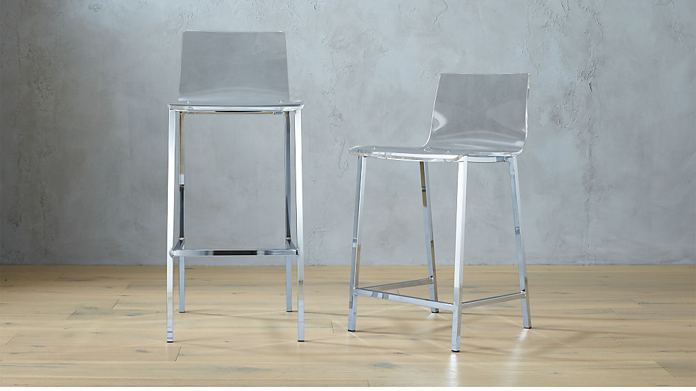 Marvelous Bar Stools For A Bar Part - 7: Vapor Acrylic Bar Stools | CB2