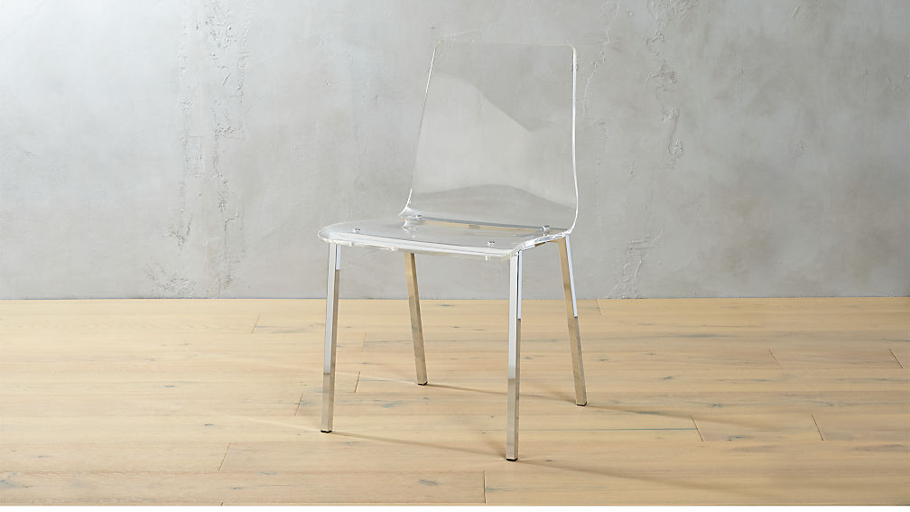 Vapor Clear Acrylic Side Chair | CB2