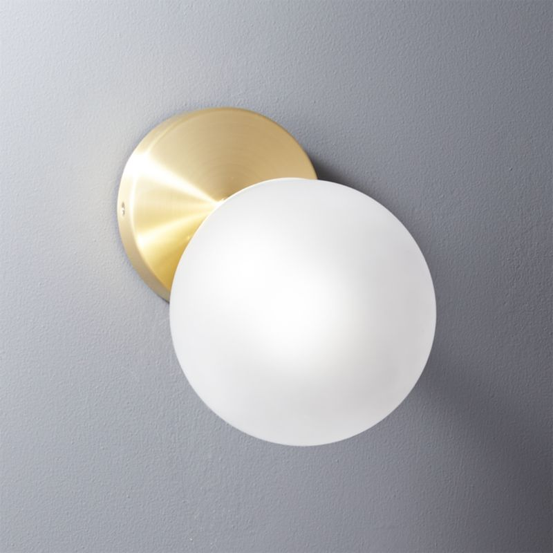 Vega Bath 1 Bulb Brass Wall Sconce | CB2