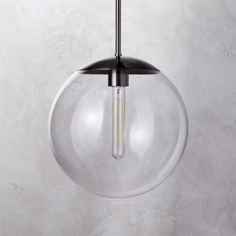 Vega Indoor Outdoor Black Nickel Pendant Light