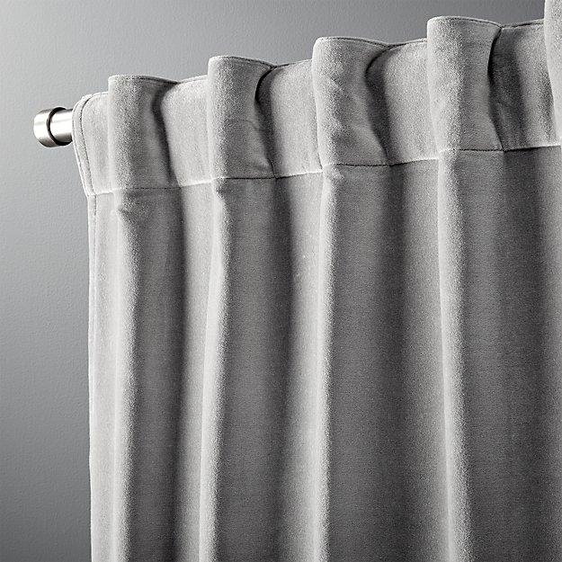 """velvet graphite curtain panel 48""""x96"""""""