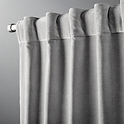 """velvet graphite curtain panel 48""""x84"""""""
