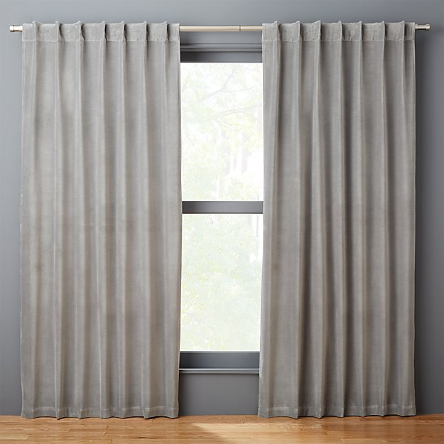 velvet graphite curtain panel