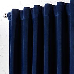 """velvet navy curtain panel 48""""x84"""""""