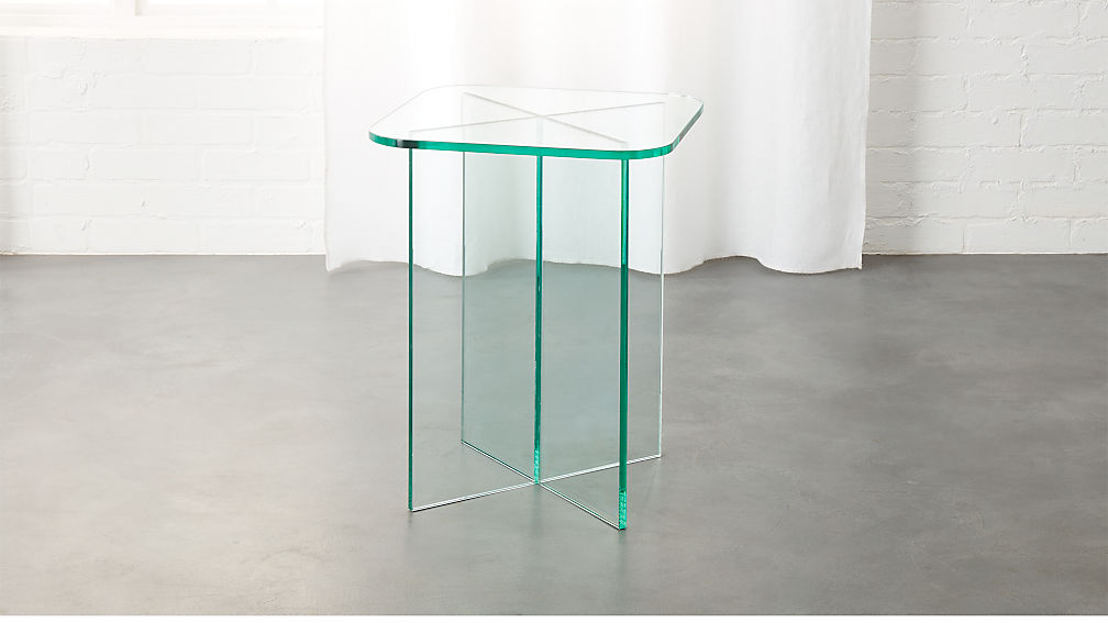 Verde Glass Side Table