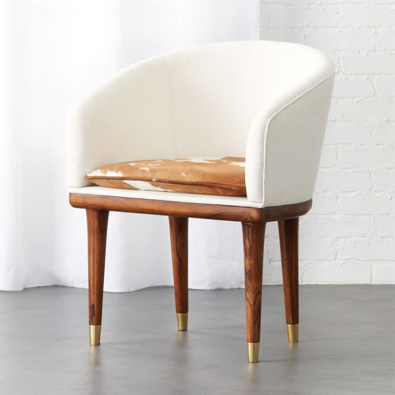 Viceroy Cowhide Chair by Crate&Barrel