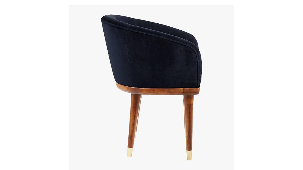 viceroy sapphire blue velvet chair