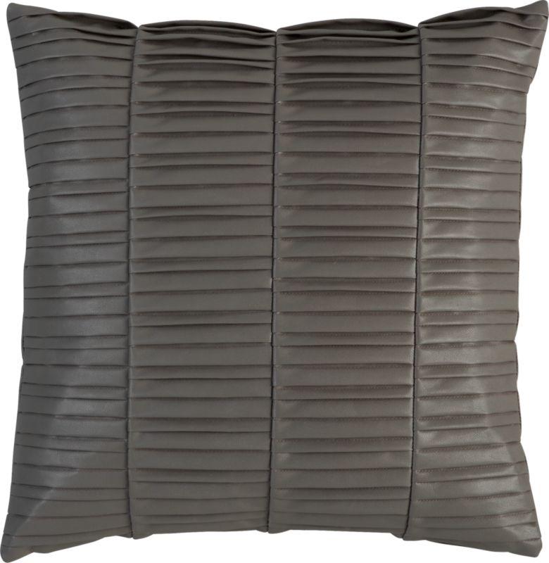 """vinyl grey 16"""" pillow"""