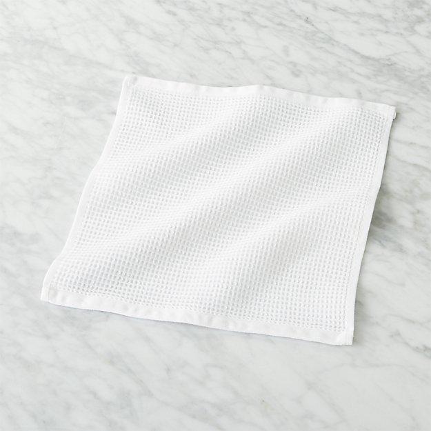 White Waffle Weave Washcloth