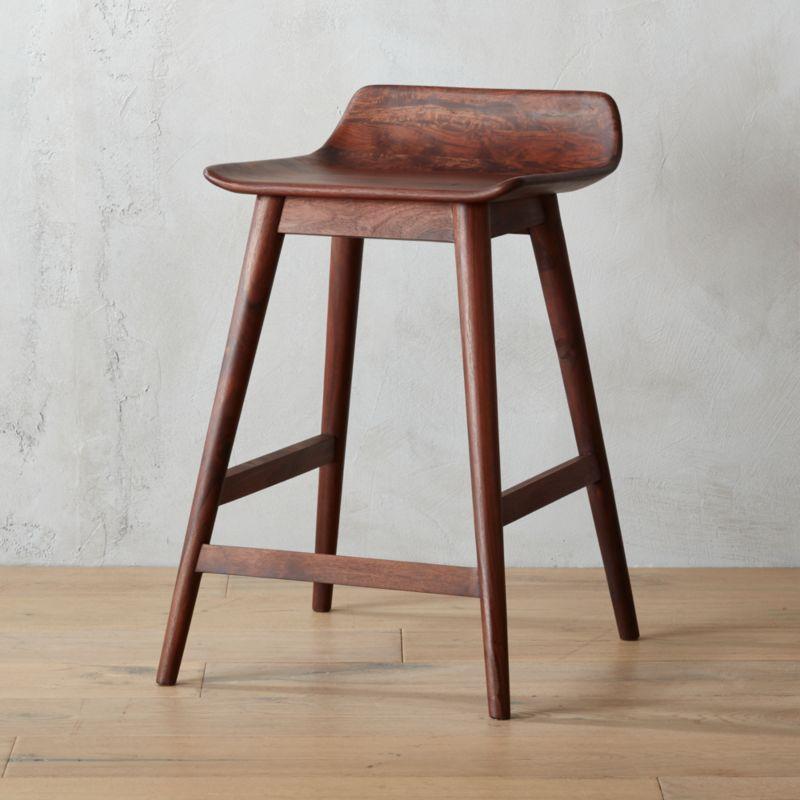 wainscott 24  counter stool & low back bar stools | CB2 islam-shia.org