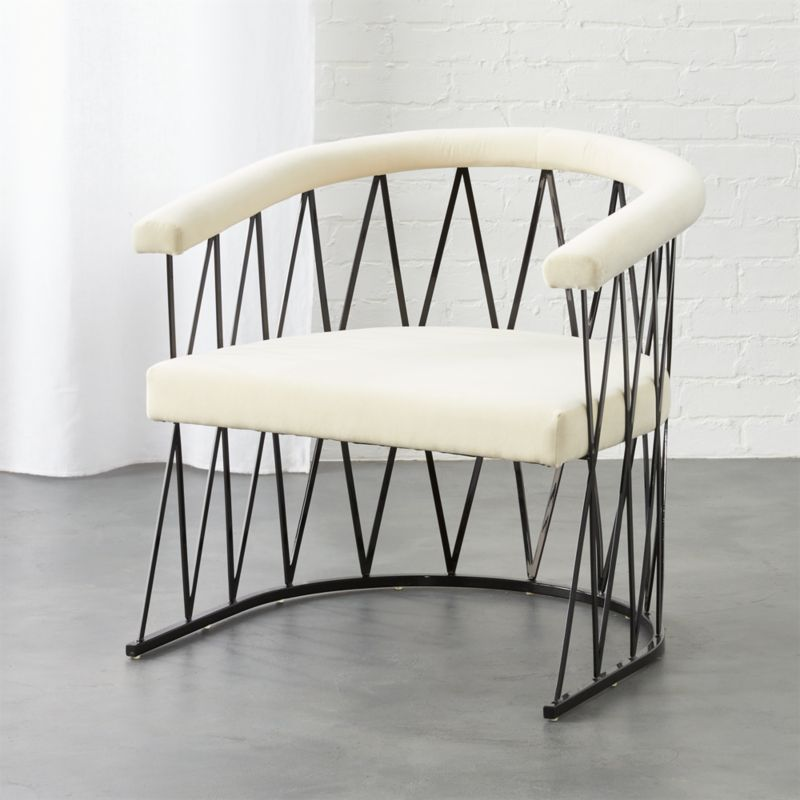 Amazing Walkway Black And White Side Chair + Reviews | CB2