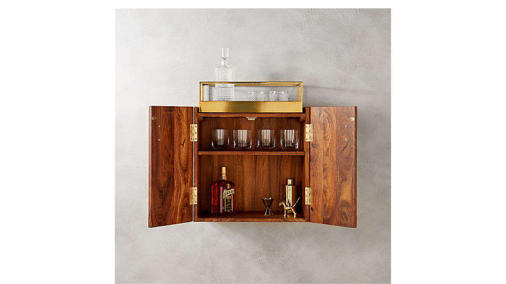 wall mounted bar cabinet