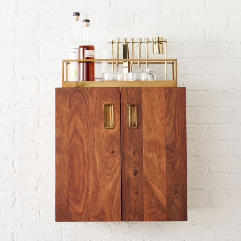 Wall Hanging Cabinet wall mounted bar cabinet | cb2
