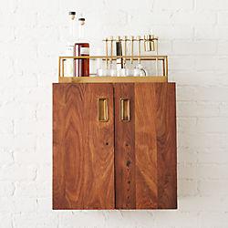 wall mounted bar cabinet