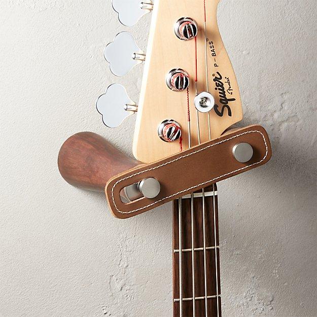 wall mounted guitar holder reviews cb2. Black Bedroom Furniture Sets. Home Design Ideas