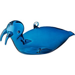 blue-green walrus ornament