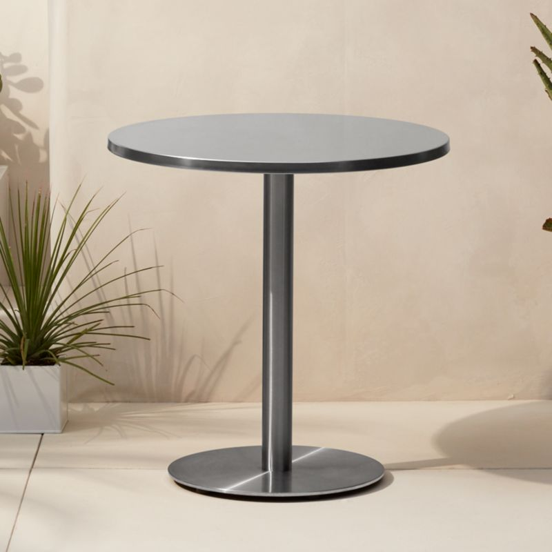 Watermark Stainless Steel Bistro Table Reviews Cb2