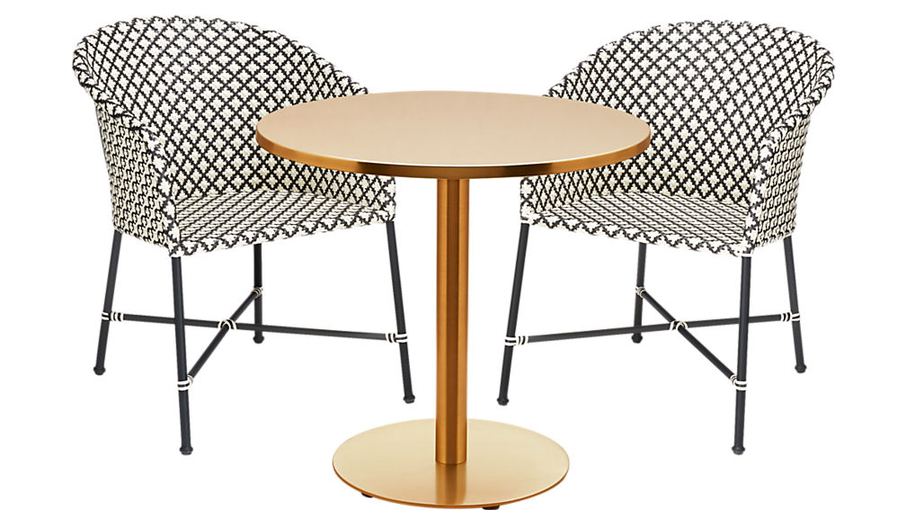 ... Watermark Brass Bistro Table