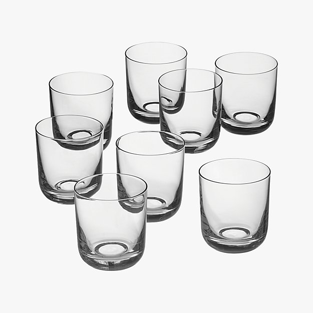 set of 8 watson double old-fashioned glasses